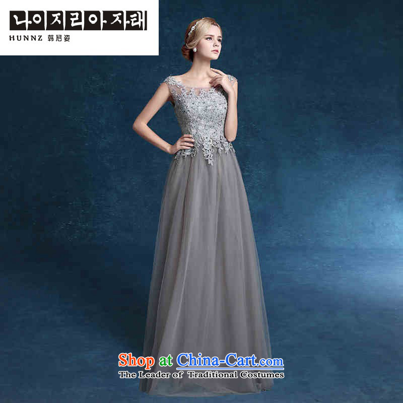 ?      ?Toasting champagne served bridesmaid HANNIZI Services 2015 stylish bride wedding dress spring and summer new evening dresses gray?S