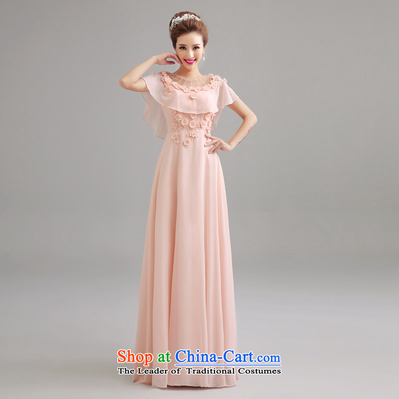 2015 Long dresses HUNNZ slotted shoulder, bridal wedding dress banquet bows long serving pure color toner color�M