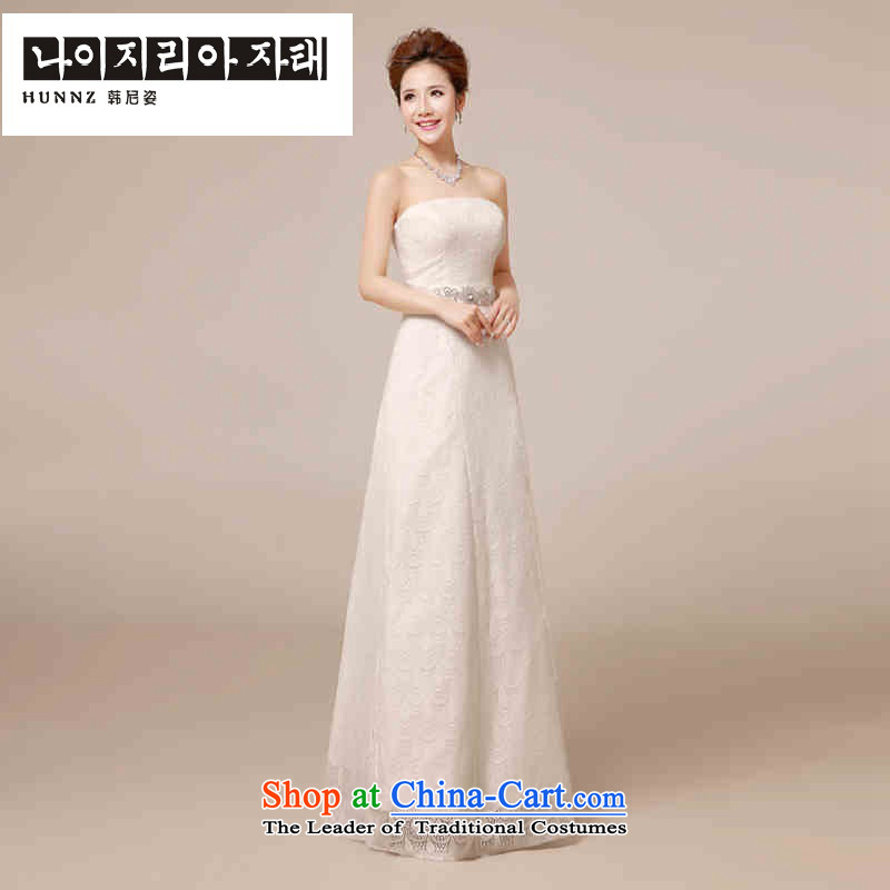 ?      ?Bridesmaid Services 2015 HANNIZI Korean brides wedding dress banquet evening dresses and white long white?M chest