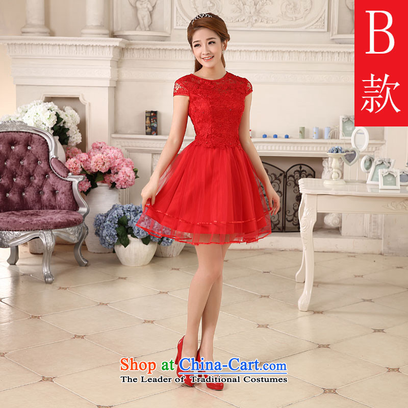 Hannizi 2015 stylish and simple bride wedding dress, sweet Sau San Solid Color banquet dinner dress?B?S