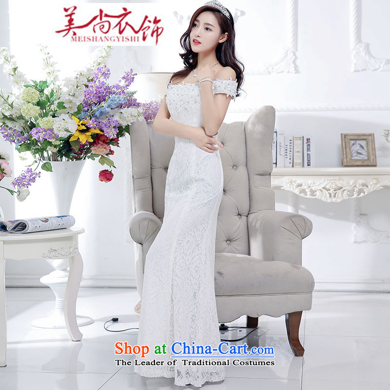 The United States is still clothing bride bows services 2015 new red wedding dress single shoulder length) Mr Ronald wedding video thin dresses of autumn and winter white�S