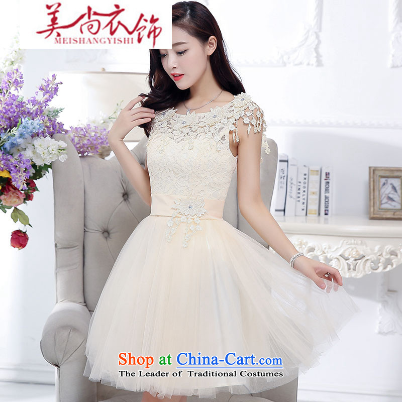 The United States is still clothing bride bows services wedding dress bridesmaid services before the summer dresses short skirt in sister long after long bon bon skirt white聽S