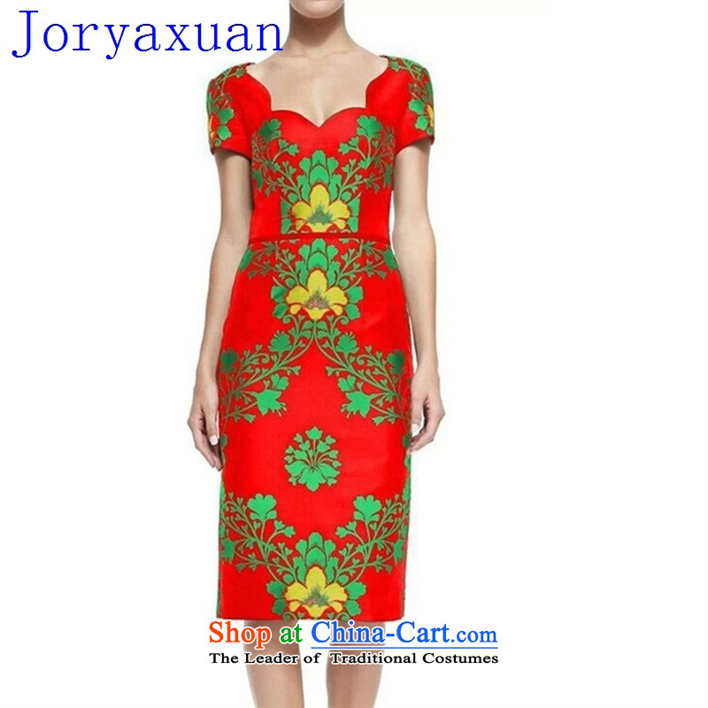 Deloitte Touche Tohmatsu sunny spring 2015 New Shop stamp elegance women aware of atmospheric dresses small gift red?XXL