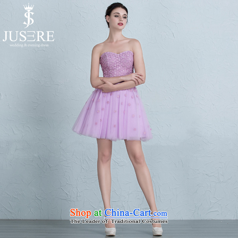 There is Set Iris?2015 New Dress Short) bridesmaid service banquet evening dresses and chest with a light purple Sau San?10