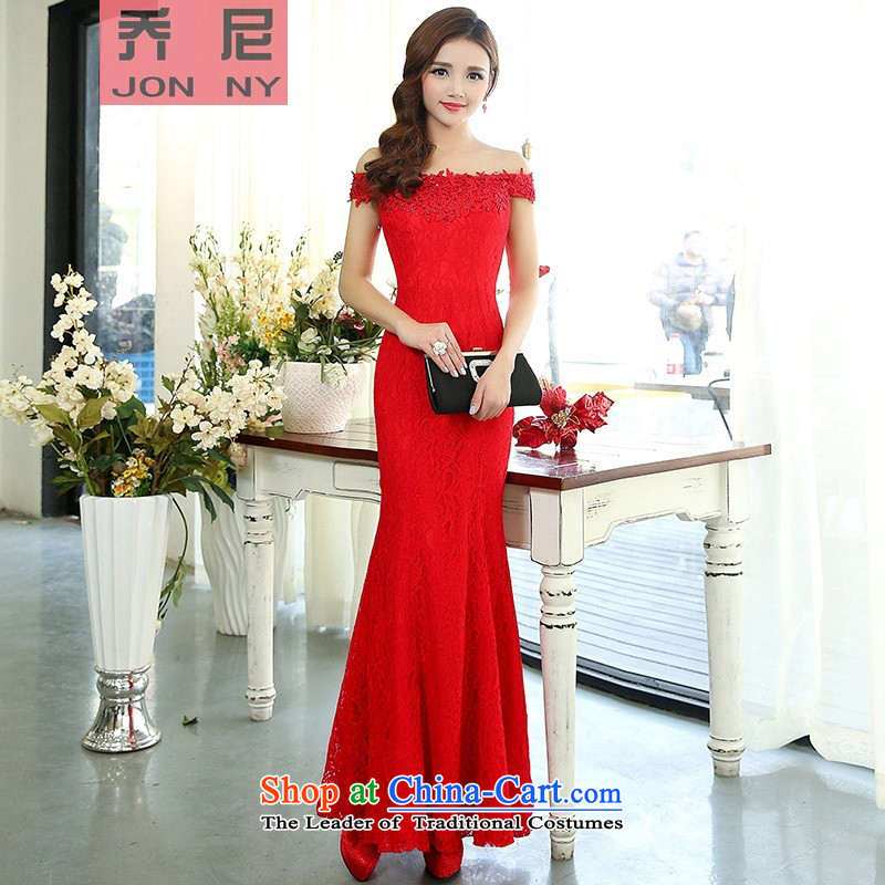 Cioni dress the new 2015 Long crowsfoot sexy a field for lace bride dress dress Sau San Red?L