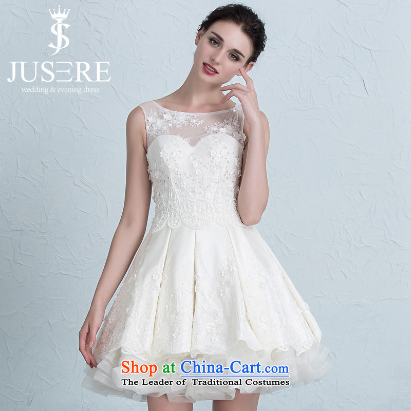 There is located at Ewha interpretation from?2015 autumn and winter new wedding dresses lace wiping the chest short) bridesmaid service banquet dinner dress champagne color?6