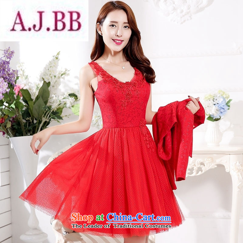 Ms Rebecca Pun stylish shops fall and winter bride bows wedding dress uniform wedding dress bridesmaid back door onto the skirt kit female bridesmaids red�L
