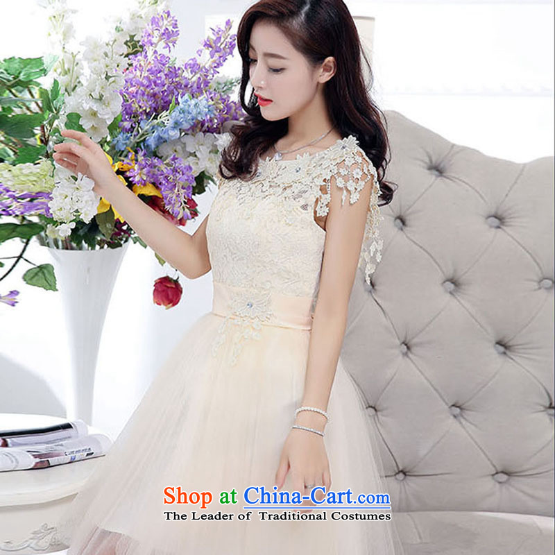 The Baylor Incheon bride toasting champagne CB/ serving evening dresses 2015 new booking wedding dress bridesmaid to skirt wedding red autumn rice White�XL