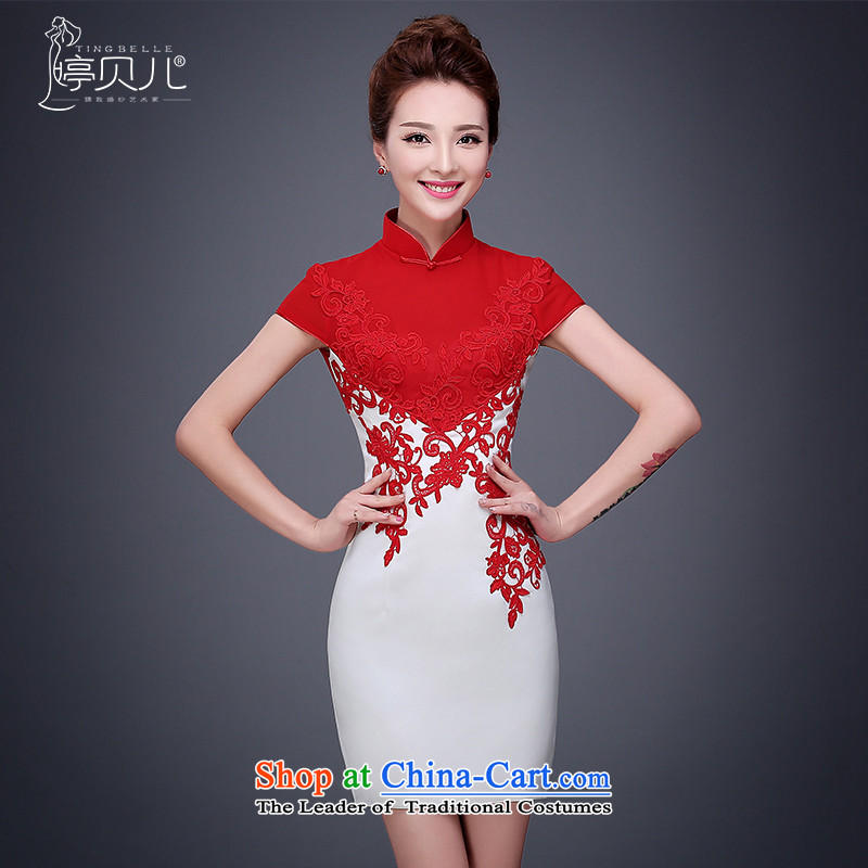 Toasting champagne bride services 2015 new marriage cheongsam dress fall short of the improved wedding replacing Chinese Dress Red Female Red�L