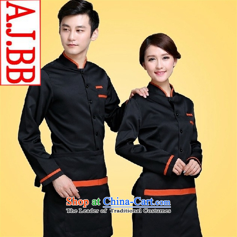 The Secretary for Health related shops _ hotel restaurant Cafe cakes pastries, kitchen workwear autumn and winter long-sleeved T-shirt _black women men_ XL
