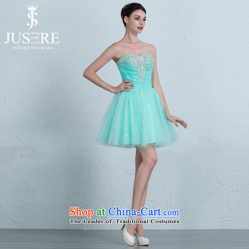 There is a light dance Wedding Dress Short, bridesmaid skirt anointed Sau San lace dress Chest Green 2 code