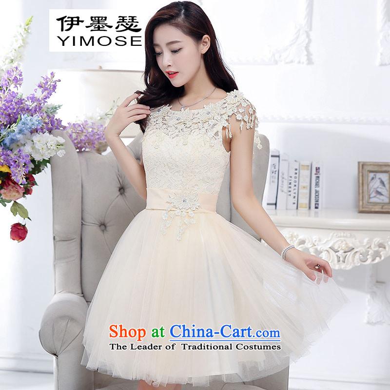 El ink�pack Korea 2015 Autumn Joseph version bride services jacket female white toasting champagne evening dress short of rice white� L