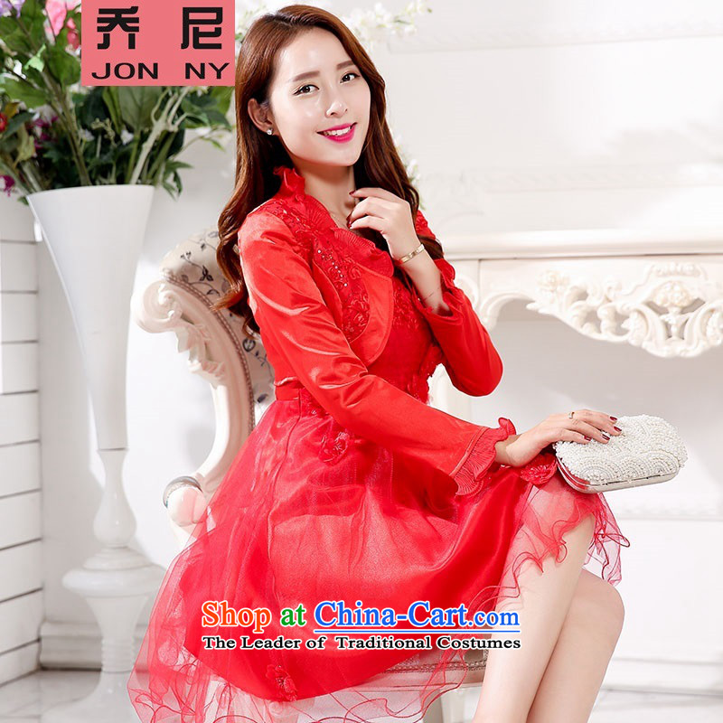 Wedding dress autumn 2015 new improved stylish qipao bride bows to marry bridesmaid service back to the door to?M