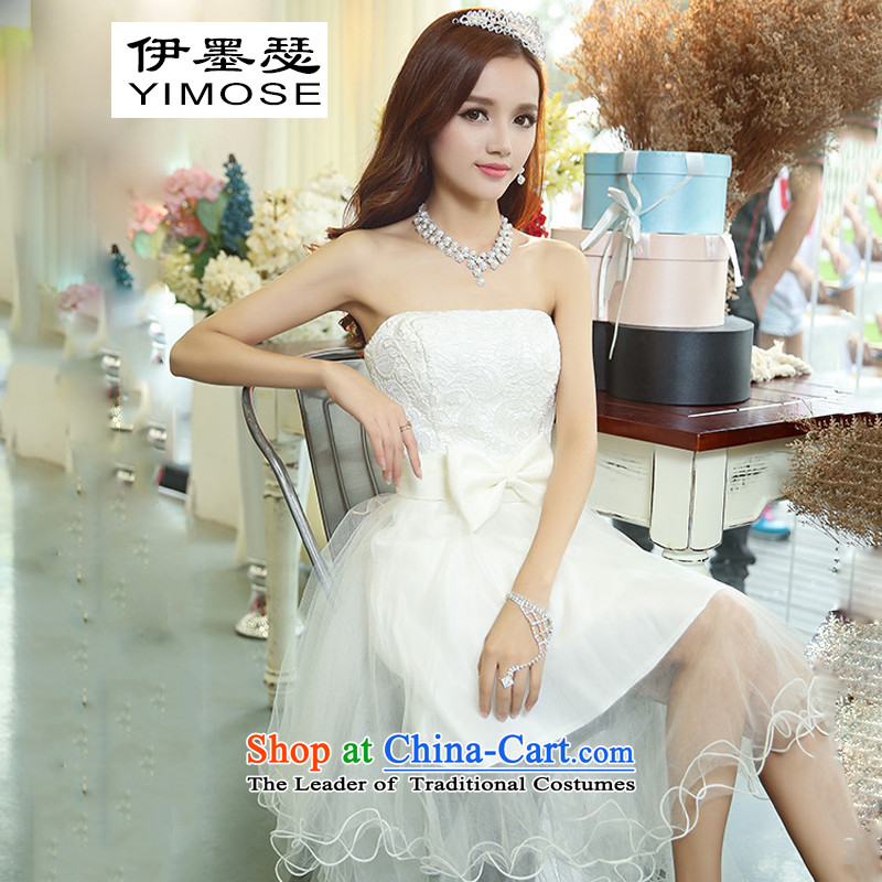 The�2015 autumn of Joseph Korean red lace serving drink bride sleeveless in long white wedding dress� S