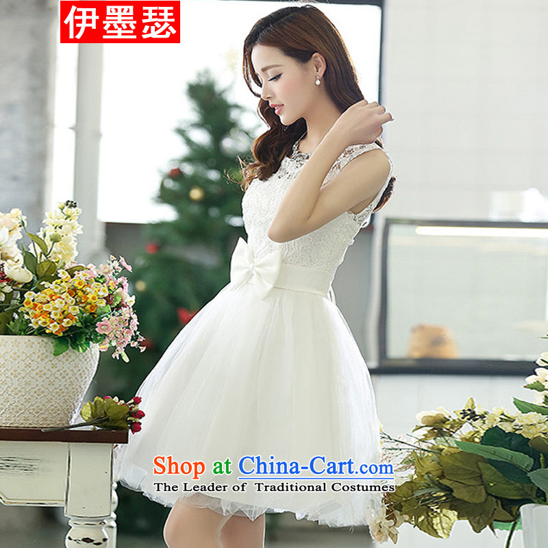 El ink Joseph?2015 White Dress new wine bows to the skirt dress in long white gown bridesmaid 21 M