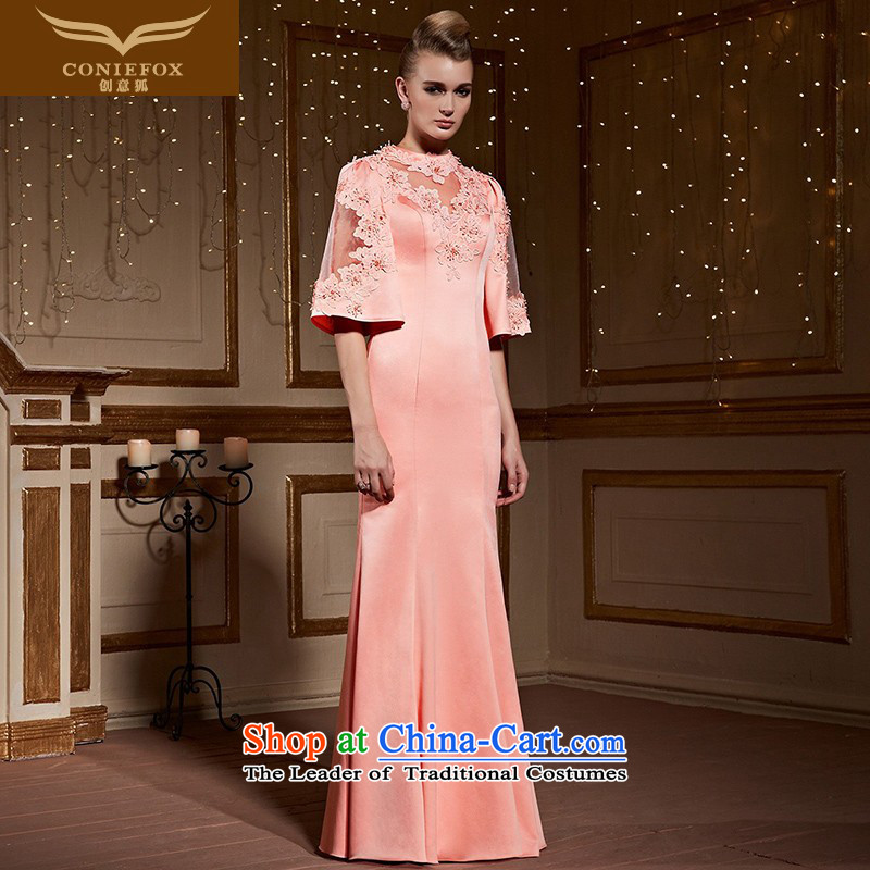 Creative Fox pink marriages bows services bridesmaid service packages and cultivating the crowsfoot evening dresses long skirt horn cuff chaired the girl will dress 31029 pink?M