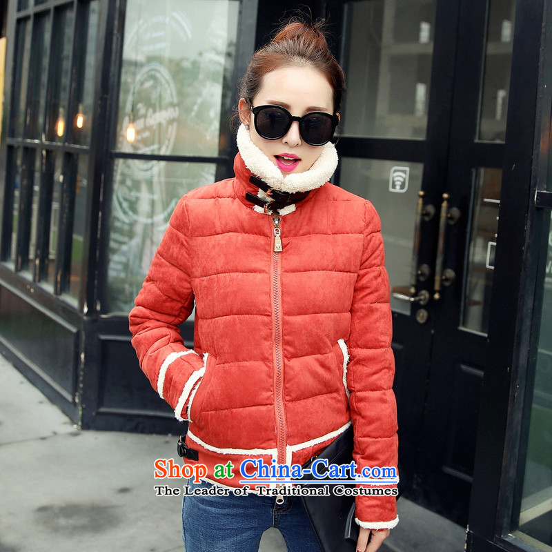 Real-Concept 2015 winter new stylish stitched cotton coat feather gross lamb Sau San jacket female army green?L