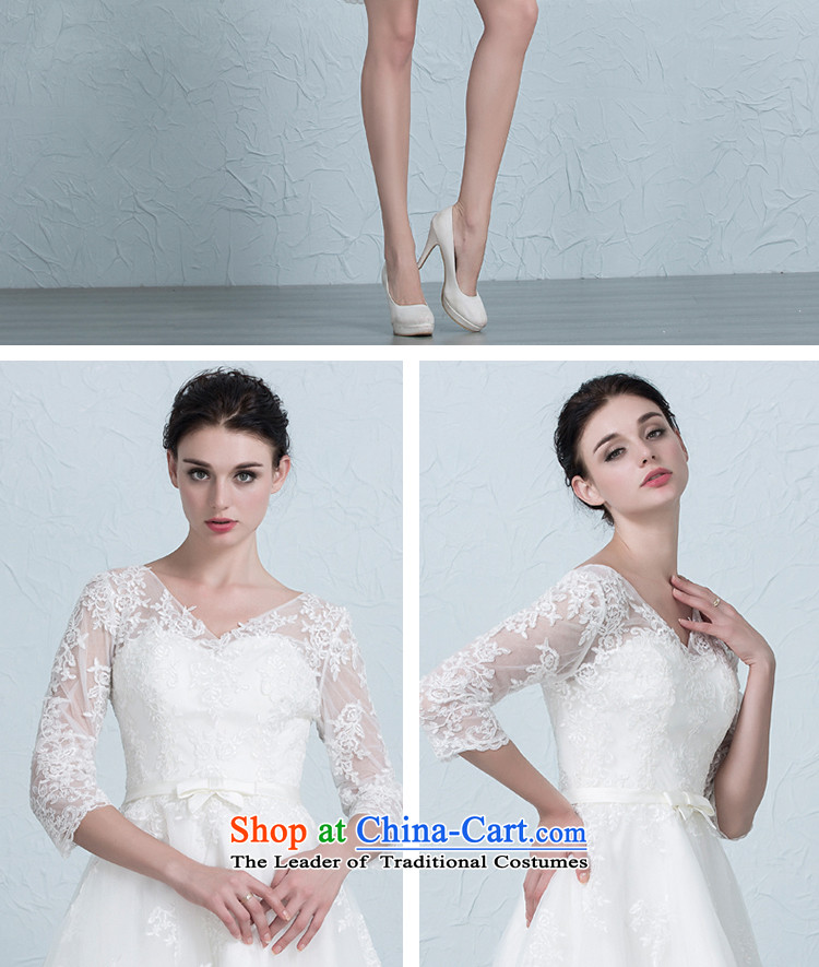 There is a wedding dresses short-sleeved) bridesmaid services Sau San lace strap evening dress Bridal Services White 4 yards of the bows picture, prices, brand platters! The elections are supplied in the national character of distribution, so action, buy now enjoy more preferential! As soon as possible.