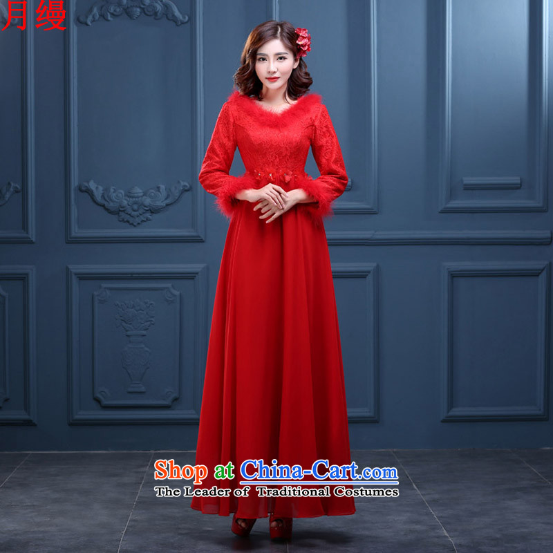 The following new paragraph on 2015 Autumn Korean brides red long evening dresses Top Loin of pregnant women, married a drink service short red cotton) S