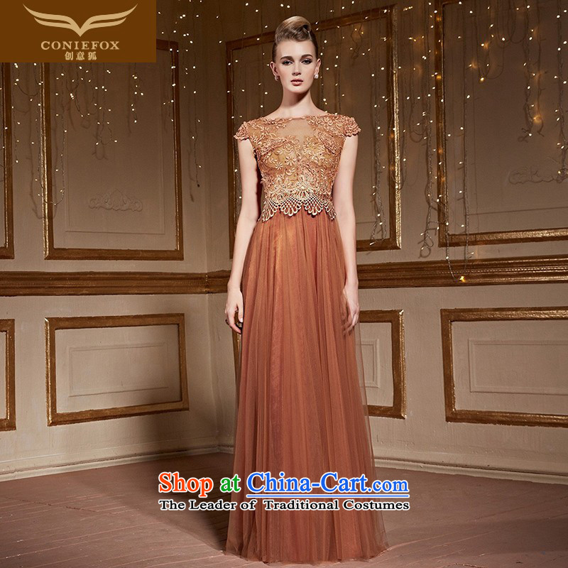 The kitsune?2015 autumn and winter creative banquet dinner dress bride wedding dress evening drink services under the auspices of the annual dress will long skirt 31036 orange?XXL pre-sale
