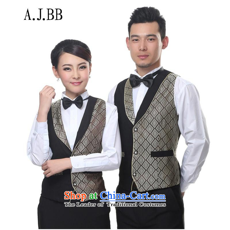 * Sai shops involved and restaurant workers vest staff, a hotel clothing Workwear Fall/Winter Collections gray?XL