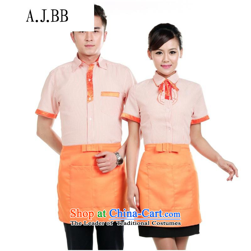 *The hotel is close to shops of overalls summer men and women take western restaurant buffet hotpot restaurant waiters working dress purple men?XXL