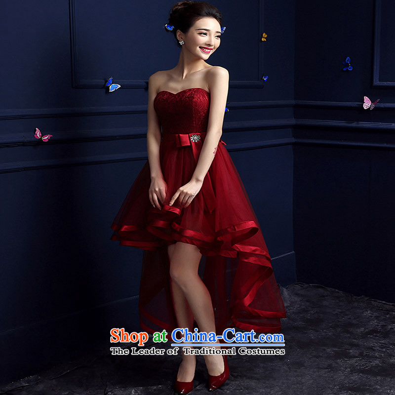 However, the new 2015 services fall short of the brides dress banquet evening dresses and chest after long female summer short stylish deep red聽XXXL do not return Not Switch