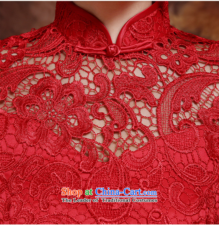 The bride wedding dress bows Services Mr Ronald New 2015 Skirt Red Stylish retro qipao lace Sau San evening dress red long聽M picture, prices, brand platters! The elections are supplied in the national character of distribution, so action, buy now enjoy more preferential! As soon as possible.