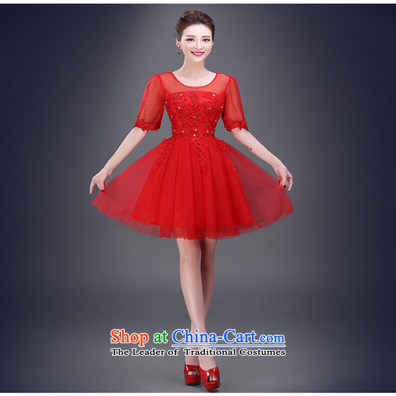 Bridesmaid Summer 2015 New Service marriages bows services evening dress short, banquet dress dresses made red do not return Not Switch