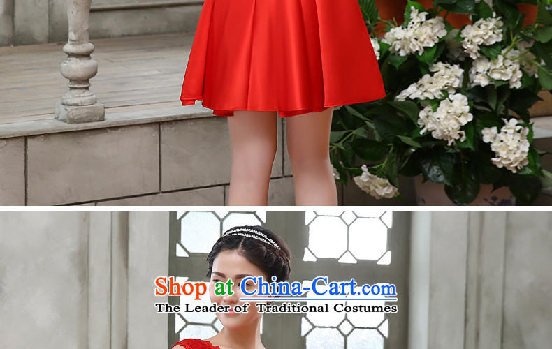 The bride dress bows Service, 2015 New lace red field lead the Korean version of large shoulder Wedding Dress Code Red to skirt do not return do not change the picture, prices, brand platters! The elections are supplied in the national character of distribution, so action, buy now enjoy more preferential! As soon as possible.