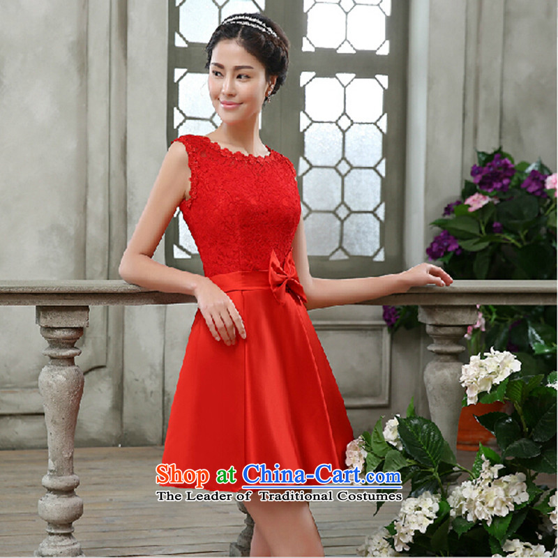 The bride dress bows Service, 2015 New lace red field lead the Korean version of large shoulder Wedding Dress Code Red to skirt for not returning the switch does not love, Su-lan , , , shopping on the Internet