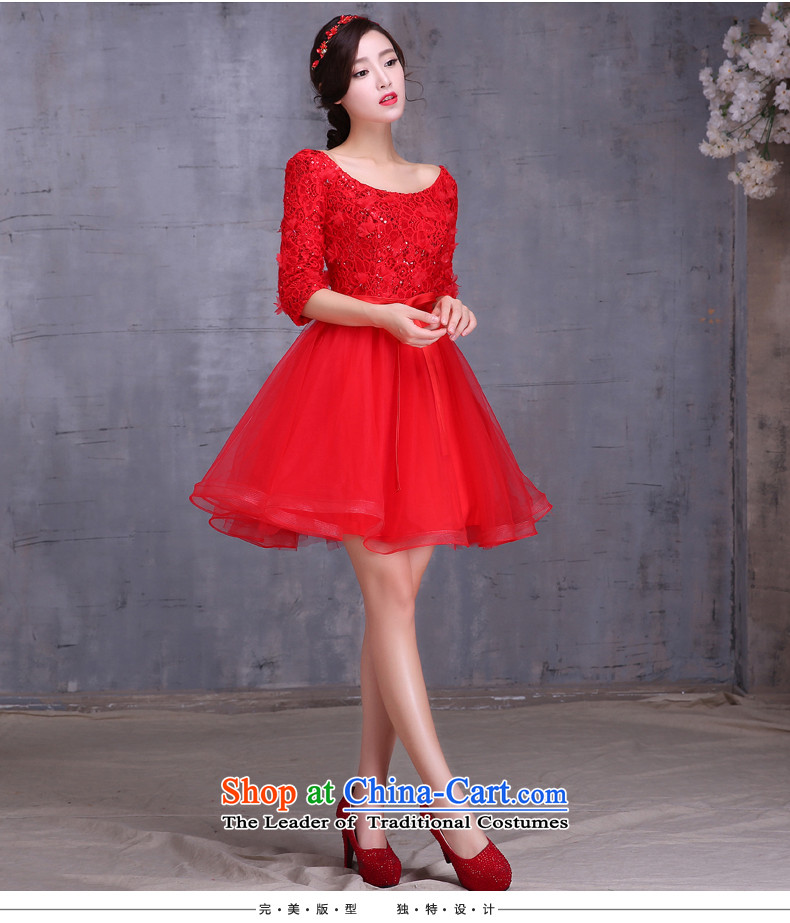2015 new bride bows services fall short of long long-sleeved Korean large pregnant women married to Sau San bows dress red shortM picture, prices, brand platters! The elections are supplied in the national character of distribution, so action, buy now enjoy more preferential! As soon as possible.