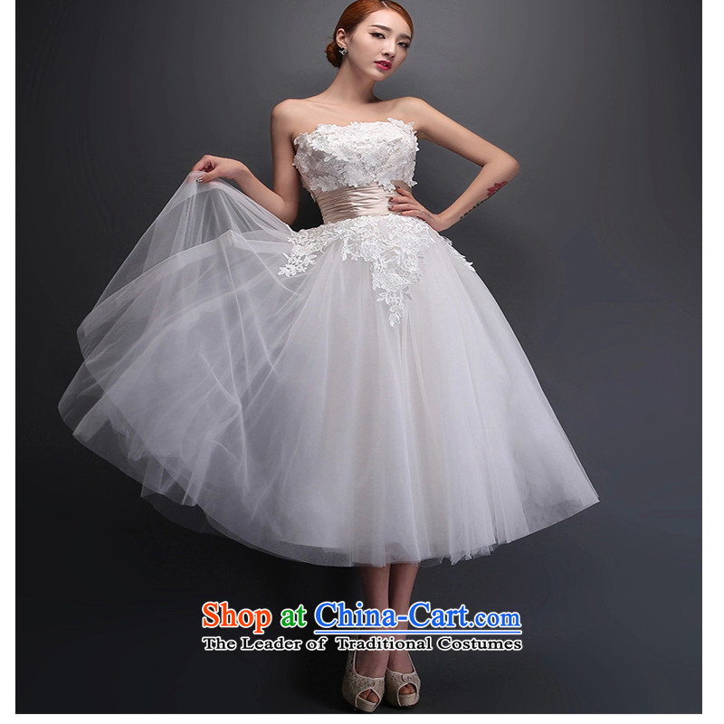 On the following new evening dresses and chest red 2015 lace in long marriages bows service of dress white?L