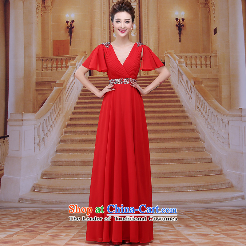 Tim hates makeup and 2015 New Red Dress marriages bows services wedding dresses red horn sleeve length, bridal dresses and winter clothing LF0 moderator red�L