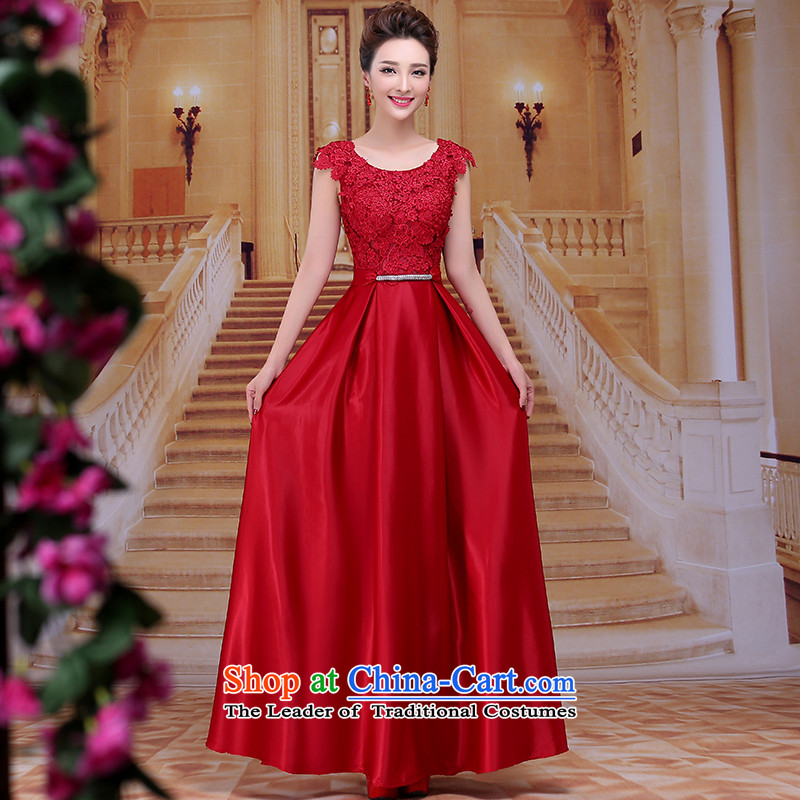 Tim hates makeup and 2015 New Red Dress marriages bows to the winter wedding dresses red dress dress bride LF009 presided over dinner deep red�M