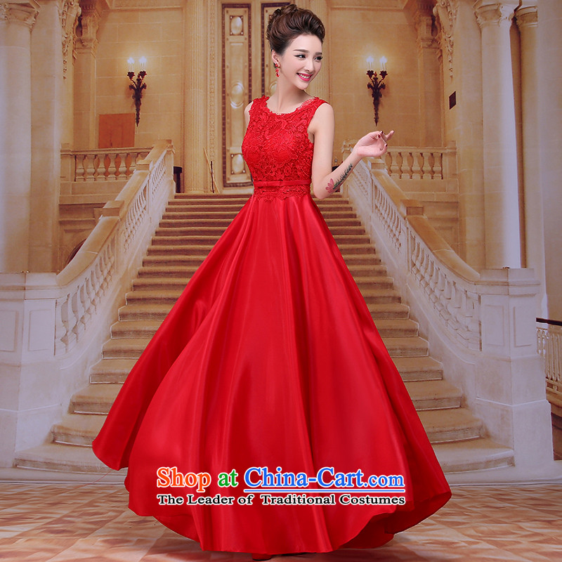 Tim hates makeup and 2015 New Red Dress winter marriages bows services wedding dresses evening dresses bridal dresses LF011 dinner evening dresses red tailored does not allow