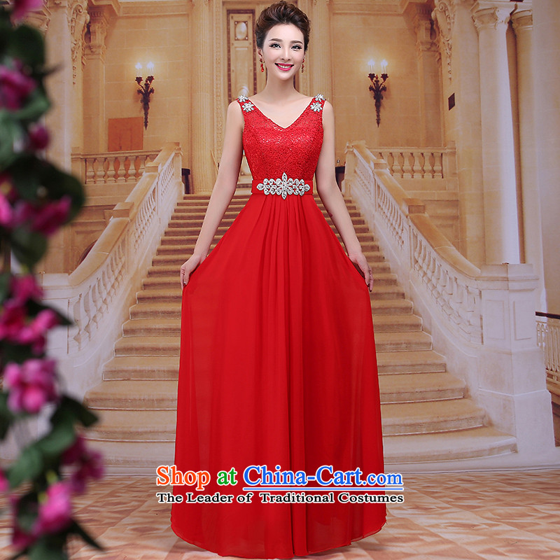 Tim hates makeup and 2015 New Red Dress winter marriages bows services wedding dresses red dress dress bride annual meeting chaired LF013 RED?M