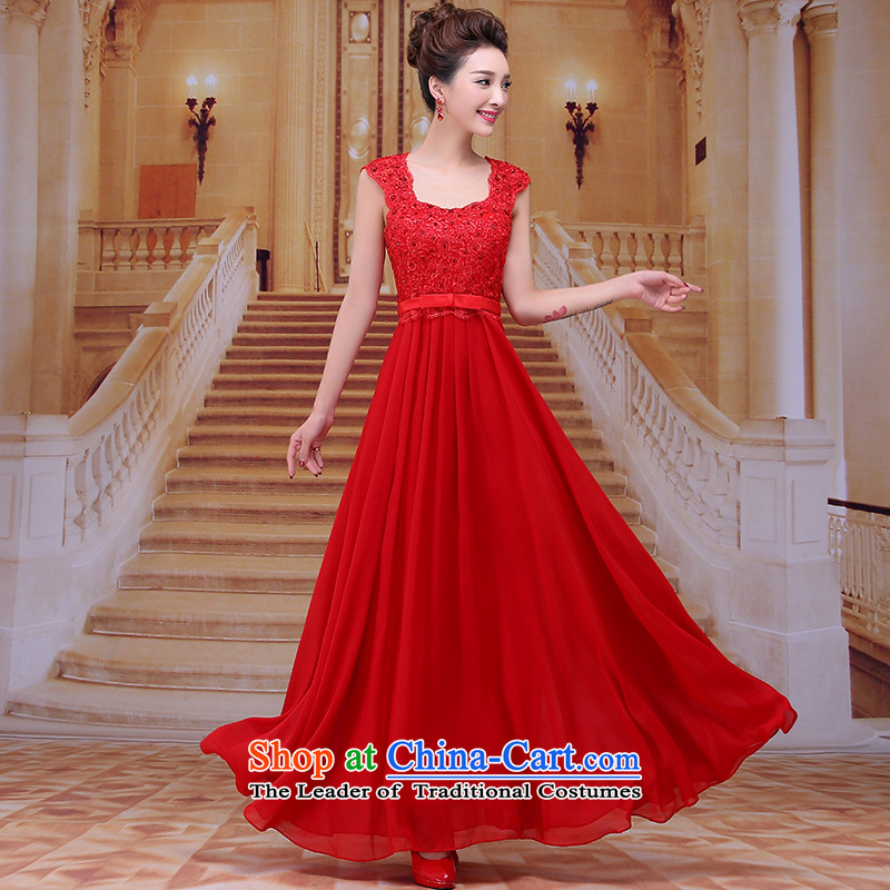 Tim hates makeup and 2015 New Red Dress long marriages bows services wedding dresses winter bride dress evening dress LF015 under the auspices of the annual session of the Red�S