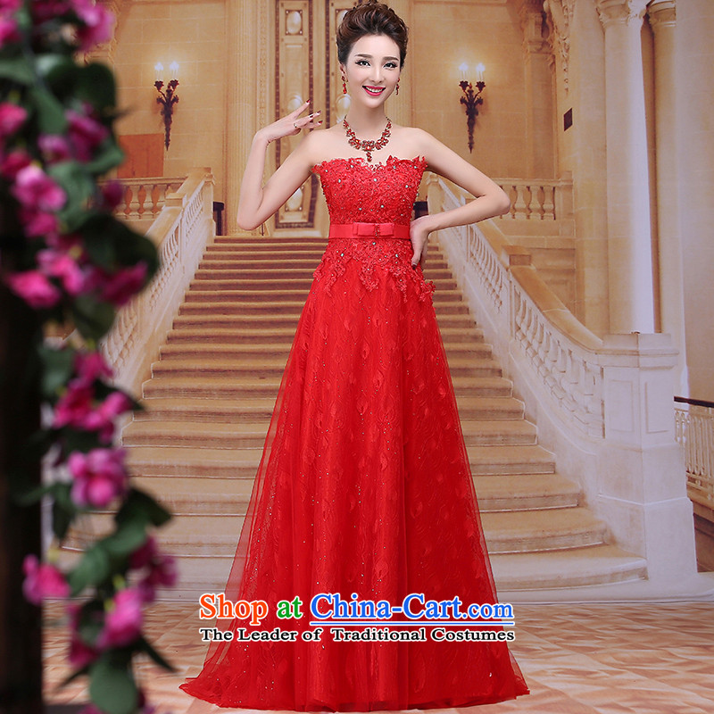 Tim hates makeup and 2015 New Red Dress long marriages bows wedding dresses serving winter Long Chest and red dress bridal dresses LF0 RED�L