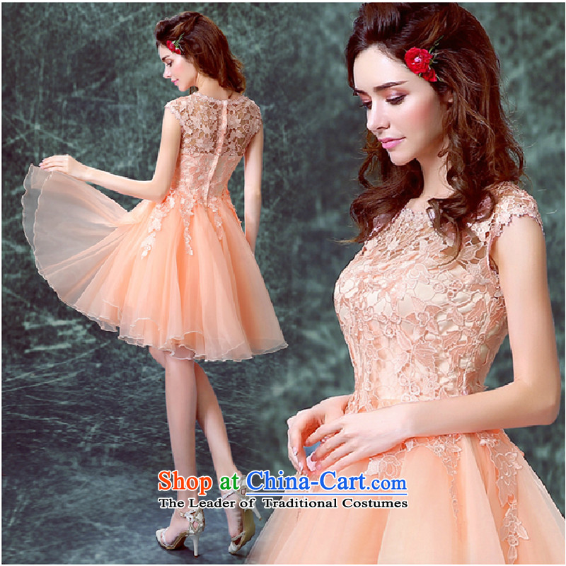 However Service 2015 Spring bride Wedding Dress Short, large stylish red dress female summer banquet rose to?XL