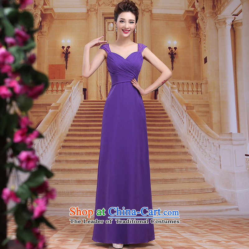 Tim hates makeup and new evening dresses 2015 Long marriages bows to the winter wedding dresses red bride services under the auspices of dress bows LF025 PURPLE?S