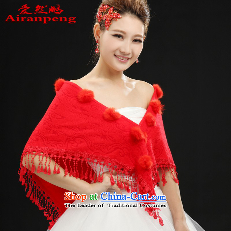 The new bride shawl spring and autumn red white marriage wedding dresses shawl Chun Ms. qipao lace jacket red