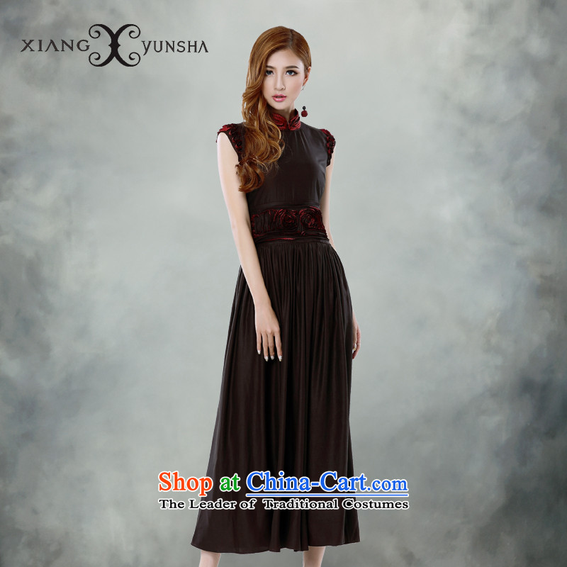 Elizabeth cloud of incense aristocratic temperament elegant silk incense cloud women's dresses yarn herbs extract is silk dress RED�M