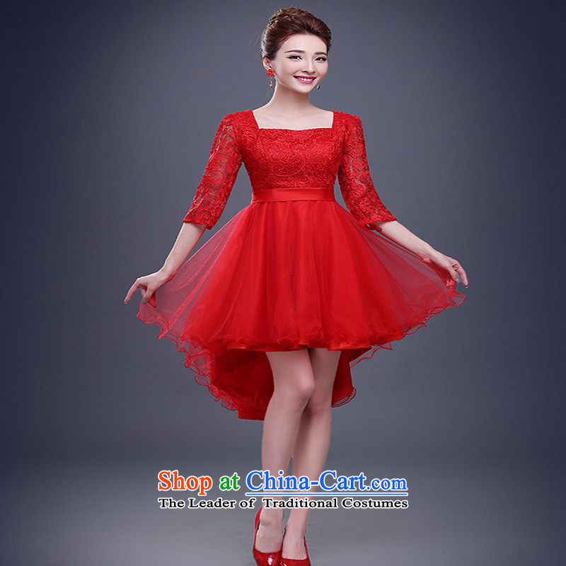 However, the new 2015 services fall short of the bride pregnant women Red slotted shoulder long-sleeved evening dresses marriage bridesmaid winter clothing made red do not return Not Switch