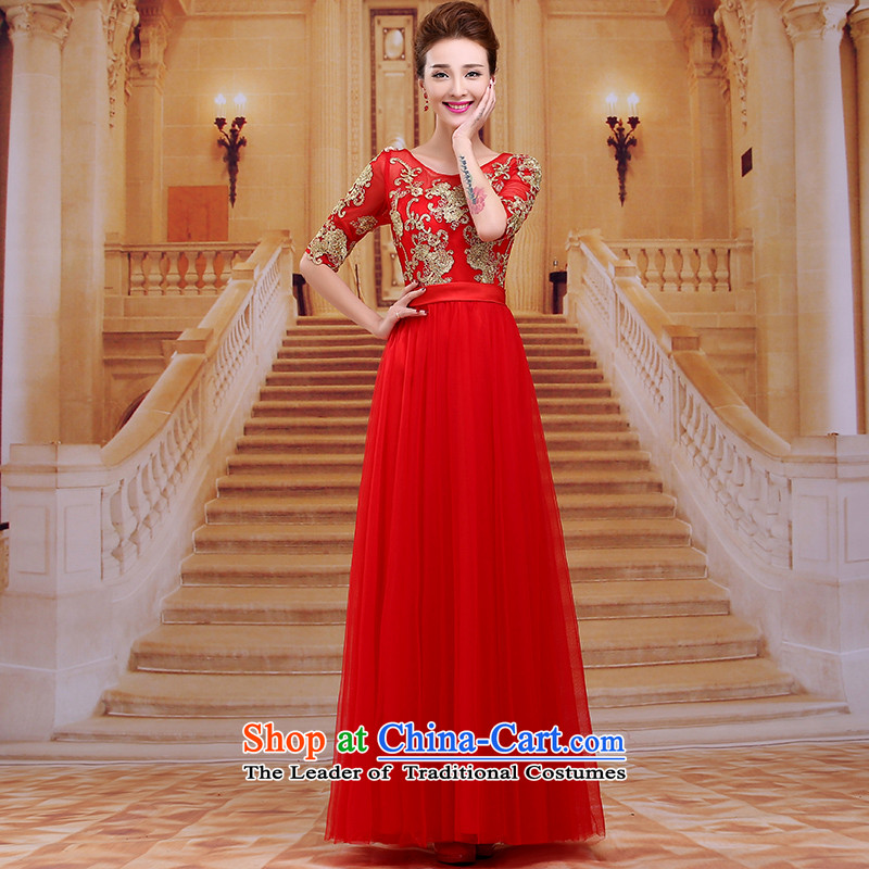 Tim red makeup bridesmaids new evening dress short skirt marriages bows to winter wedding dresses red dress annual meeting under the auspices of Sau San bride in the Cuff LF031 REDM
