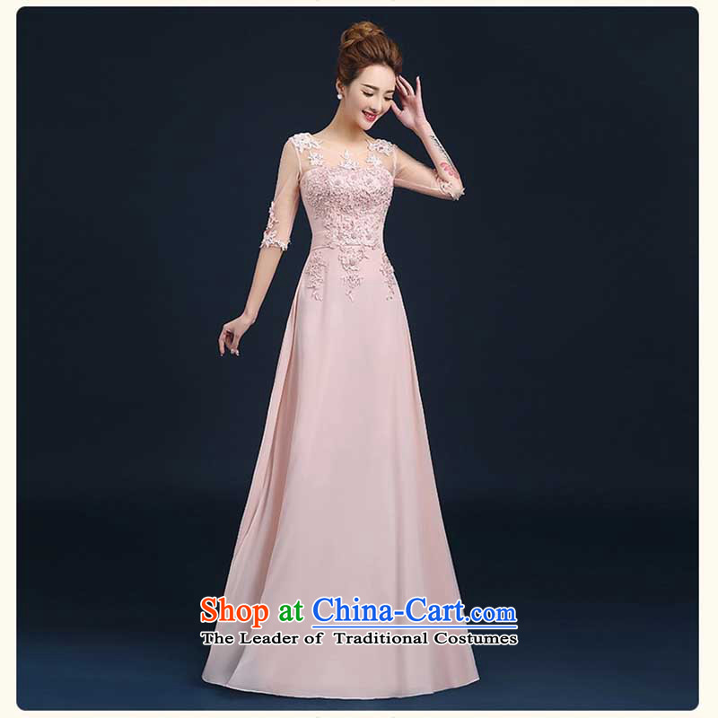 However Service Bridal Fashion 2015 long evening dress banquet with cuff married Sau San wedding dresses bridesmaid winter pink made no refund is not shifting