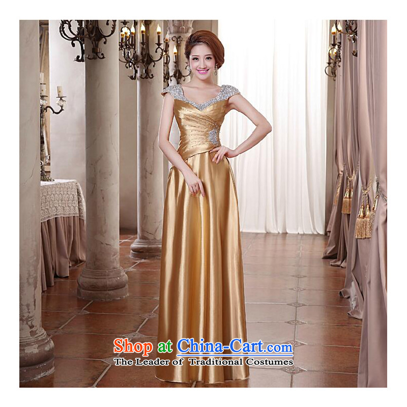 As banquet dress on long 2015 new stylish red video thin bride toasting champagne Sau San services under the auspices of the gold of the show�S