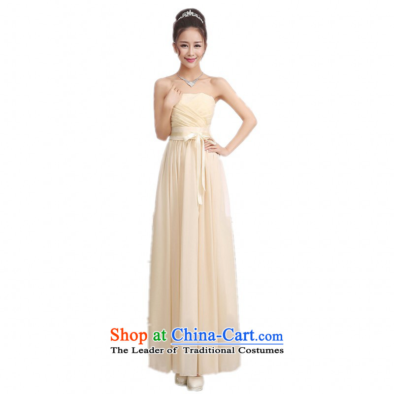 C.o.d. 2015 new small dress marriages skirt purple wiping the scoops bon bon princess evening dress annual dresses straps, short skirt champagne color long are code