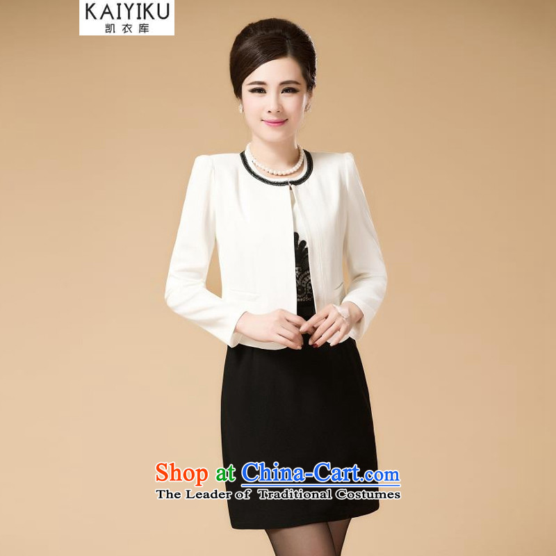 Kai Yi Library middle-aged autumn and winter wedding package installed MOM older spring and summer load dresses kit skirt two kits 1016XXXL White