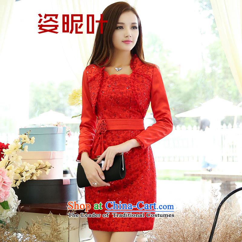 Gigi Lai Yip�    2015 Autumn young women new Korean lace dresses two kits KK picture color�M